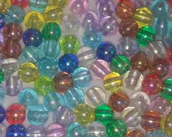 200 pearls 4mm multicolored acrylic