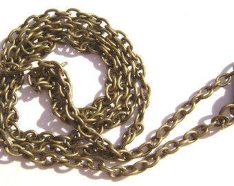 Chain Necklace Handmade Antiqued Brass Steel  50 inch  - 1 , 5 or 15  Qty
