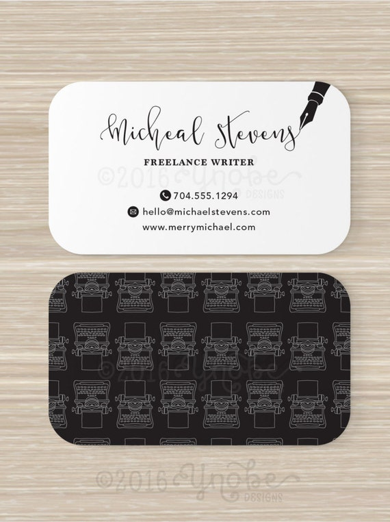 Freelance writer copywriter editor business card black reheart Choice Image