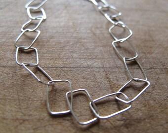 Square Link Sterling Silver Bracelet