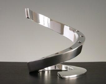 Dansk Spiral Candleholder - Vintage Dansk Silverplate Candle Holder, Cascading Dansk Taper Candelabra, Dansk Designs France Bertil Vallien