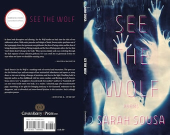 Poetry Collection, Poetry Book, See the Wolf, Sarah Sousa Poetry, Contemporary Poetry, Fairytale, CavanKerry Press, 1980s Pop Culture, Blue