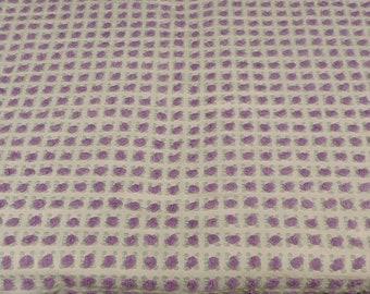 "Morgan Jones Purple Rosebud Chenille  24.5""x 34"" Fabric Piece sewbuzyb sst"