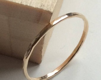 Super skinny 1mm ring, thin gold ring, thin ring, dainty ring, stacking rings