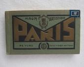 Vintage Paris postcards book