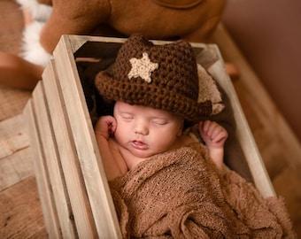 Cowgirl Hat - Crochet Cowboy Hat - Infant Cowboy Hat - Baby Cowboy Hat - Country Baby - Baby Cowboy - Baby Cowgirl - Newborn Cowboy Hat