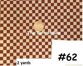 Burgundy and creak check fabric (#62)