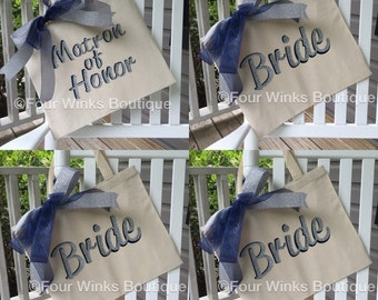 Bridesmaid Tote ~ Bride Tote ~ Personalized  ~ Wedding Tote ~ Canvas Tote   ~