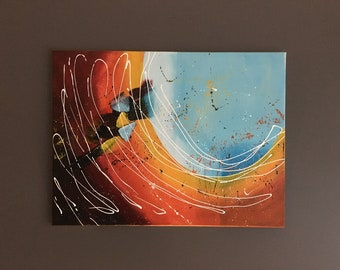 Abstract painting, artist