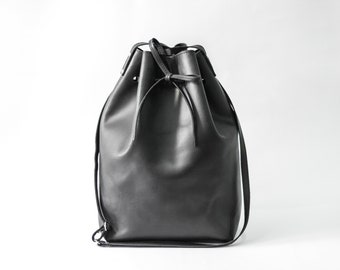 Bucket Bag, Bucket purse, Leather tote bag, Women's bag, Shoulder bag, Tote bag, Handbag, Crossbody Purse, Black bag