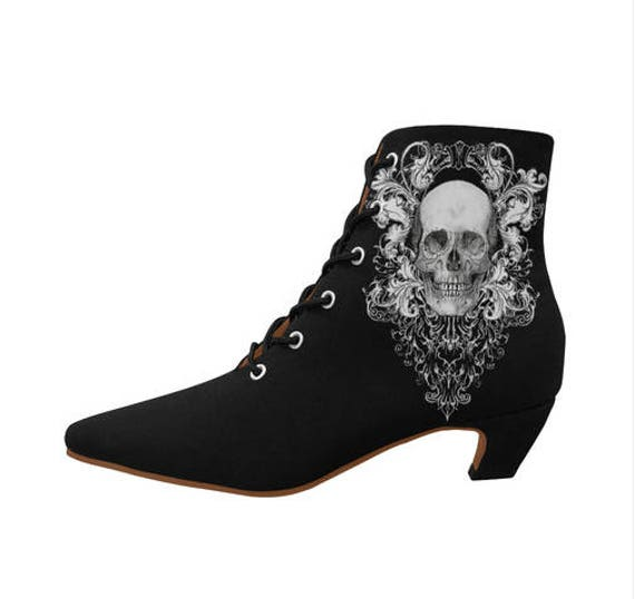 Ornate Skull pointy boots Ladies