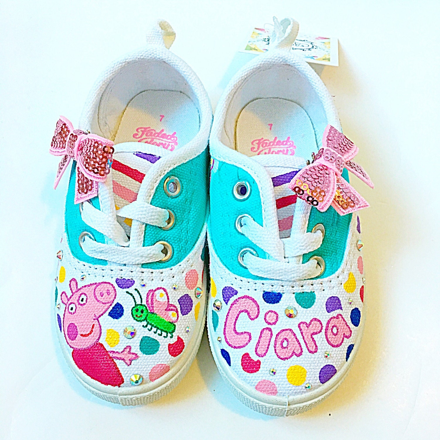 Custom Peppa Pig Canvas Shoes Toddler Birthday Party Shoes # Muebles De Peppa Pig