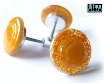 Orange Glass knobs