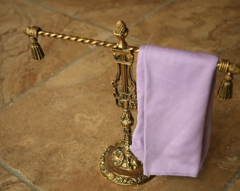 Gold tone, Metal, Hand Towel, Holder, Jewelry Holder