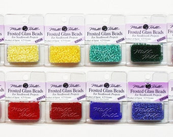Mill Hill Frosted Glass Seed Beads 1.30 Each, 11/0 Seed Beads, Glass Seed Beads, Beading Supplies, 2.5 mm Seed Beads, Mill Hill Seed Beads