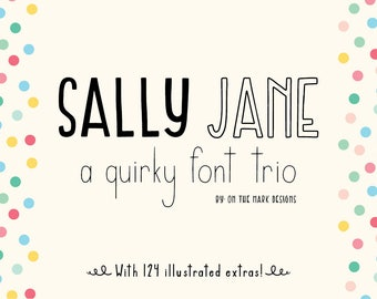 Sally Jane San Serif Font Trio