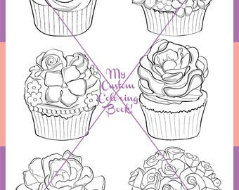 Download Floral Cupcake Coloring Page