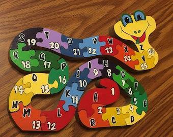 Snake ABC123 Puzzle