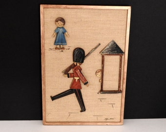 Carved Wooden British Soldier Wall Hanging- Anri Italy