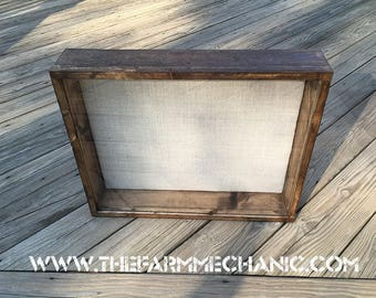 LARGE 20x20x1 Shadow Box, Display Case, Picture Frame | Artisan Rustic Collection