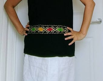 Mexican embroidered traditional blouse.