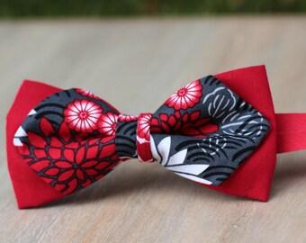 Bow 80. Amaru. Pajarita hecha a mano con tela de algodón de gran calidad.