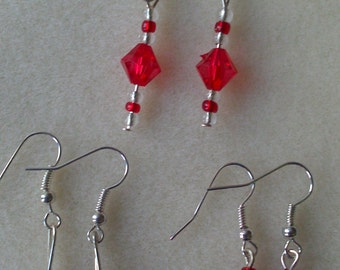 3 Pairs of Unique, Handmade Earrings