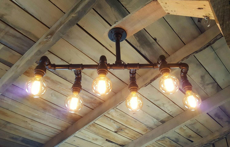 Rustic Industrial Lighting Chandelier Stagger Steampunk
