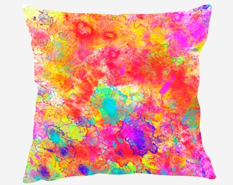 Watercolor Throw Pillow #4, Watercolor  Pillow Cover, Watercolor Accent Pillow, Nursery Decor, Kids Room