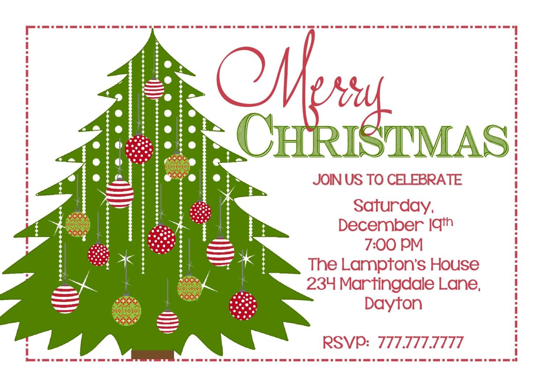 DIY PRINTABLE Christmas Party Invitation| Christmas Benefit ...