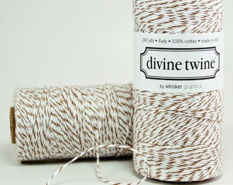 Brown Sugar Divine Twine, Brown and White Bakers Twine (240 yards)