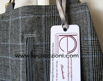 Borsa a Mandolino in tessuto di lana