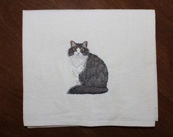 Norwegian Forest Cat Flour Sack Dish Towel