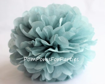 1 High Quality ASH BLUE Tissue Pom Pom - Choose any of 50 colours - Hanging  Paper flower - Tissue paper balls - Tissue paper pom poms