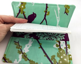 Duplicate Checkbook Cover Register - Joel Dewberry Sparrows in Plum