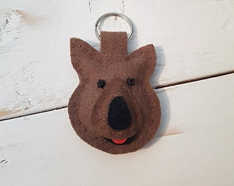 Quokka Keyring//Felt Keychain//Quokka//Australia//Bag Charm//Key Chain//Animal Keyrings//Unique gifts//Cute Animal//Handmade Felt Keyring