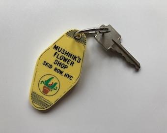 Mushnik's Flower Shop - Florist - Little Shop of Horrors - Keychain - Key Ring - Laser Cut Acrylic