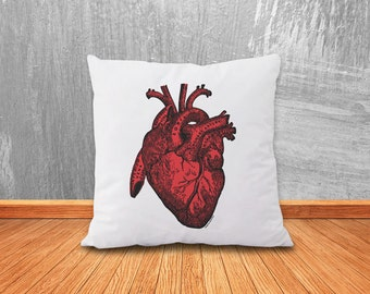 Red heart anatomy pillow-heart pillow-heart cushion cover-love pillow-Valentines day gift-pillow-home decor-pillow-NATURA PICTA-NPCP037