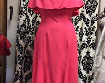 60's Watermelon Pink Sleeveless Sundress