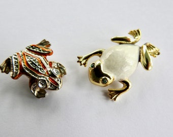 Two Frog Brooches