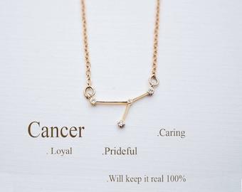 Cancer sign necklace etsy zodiac necklace constellation necklace cancer zodiac sign necklace constellation necklace birthday gift aloadofball Choice Image