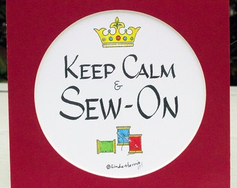 Keep Calm Sew On