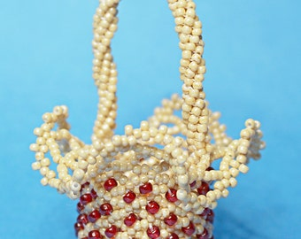 Beaded Miniature Basket Tutorial