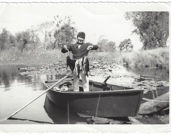 The Catch of the Day, 1950s (est), Vintage Photograph