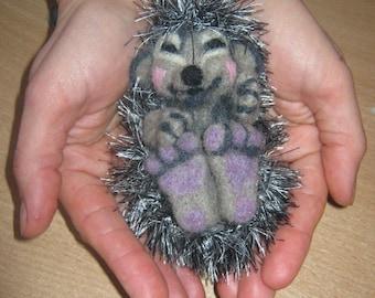 Little Hedgehog-Sculpture Made Of Wool