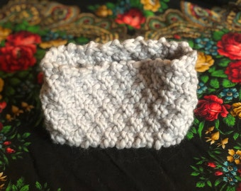 Gray ice winter headband