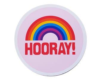 Hooray! Sticker