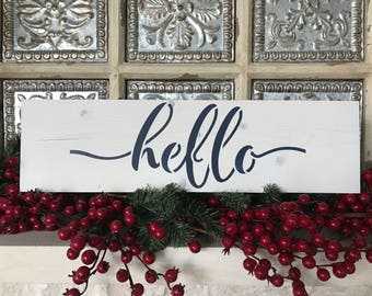 Famhouse Hello Sign