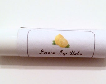 Lemon Lip Balm, Lemon Scented Lip Balm, Lip Balm, Natural Lip Balm, Vegan Lip Balm