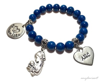Choose Life Personalized Bracelet, Christian Jewelry, Custom Charm Bracelet, Adoption Gift, Gift for New Mom, Push Present, Mothers Day 2018